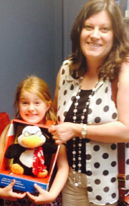 Lily and Penguin firm friends