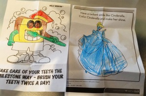Some of the winning entries for the colouring competition