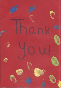 Thank you from the Butterflies at Beech House Nursery